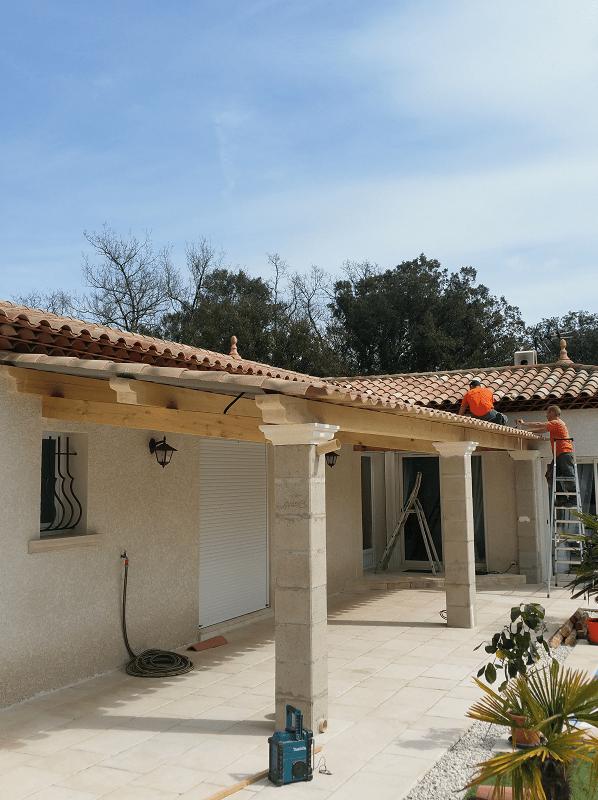 Construction Auvent La Crau