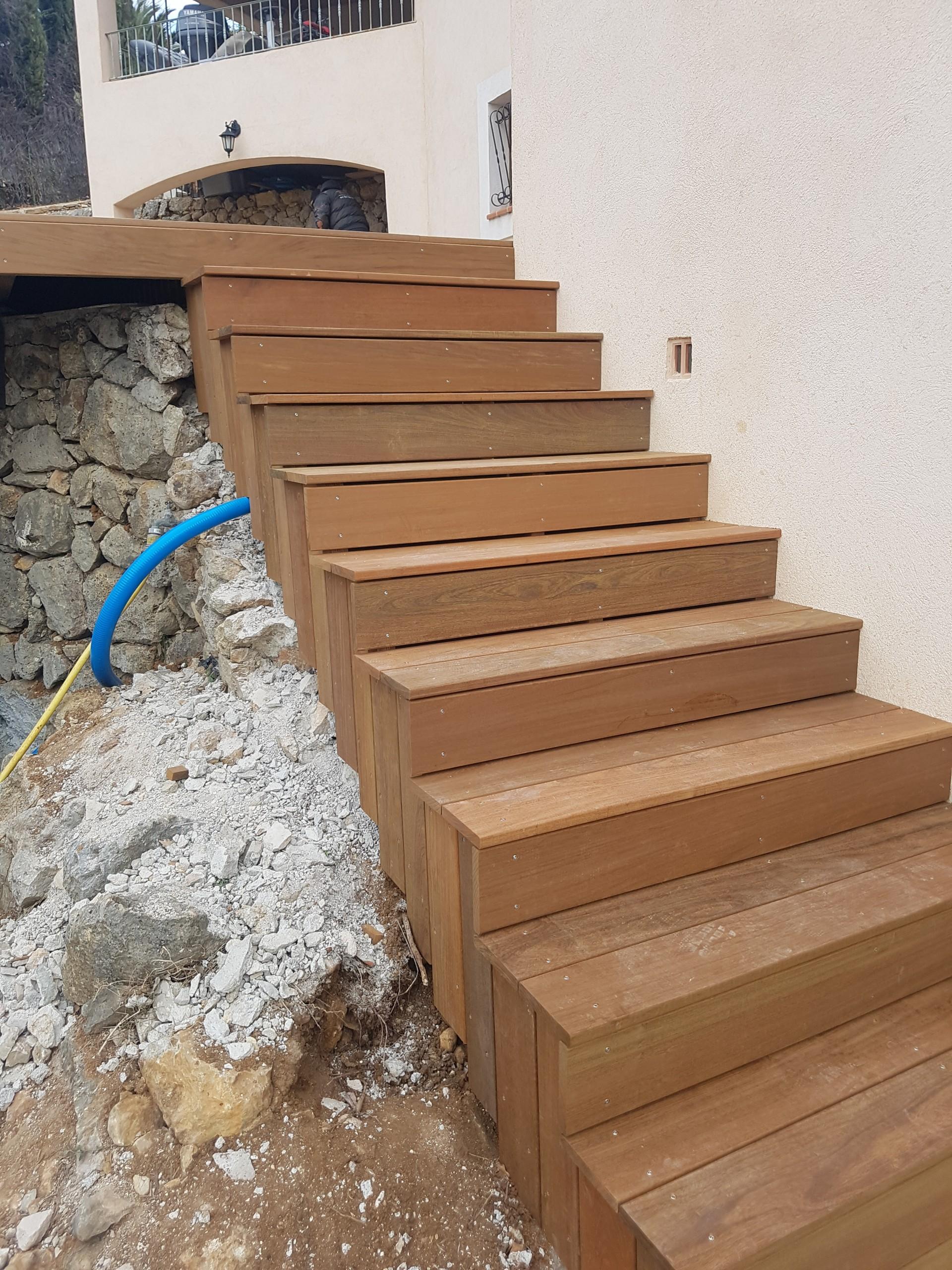 creation escalier en bois